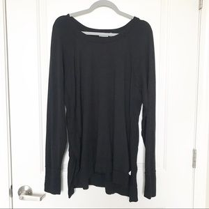 ATHLETA • Black Crewneck Long Sleeve Top Sz XL